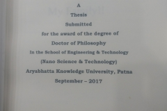 Ph.D. Guided-Sanjay