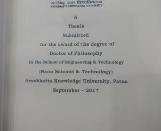 Ph.D. Guided-Sanjay
